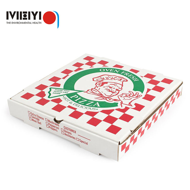 fast food packaging branded large plain pizza boxes