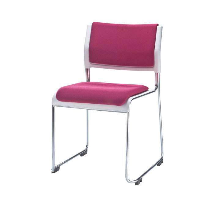 Taiwan Metal Frame Armless Stacking Chair office visitor chair training staff used conference guest chair