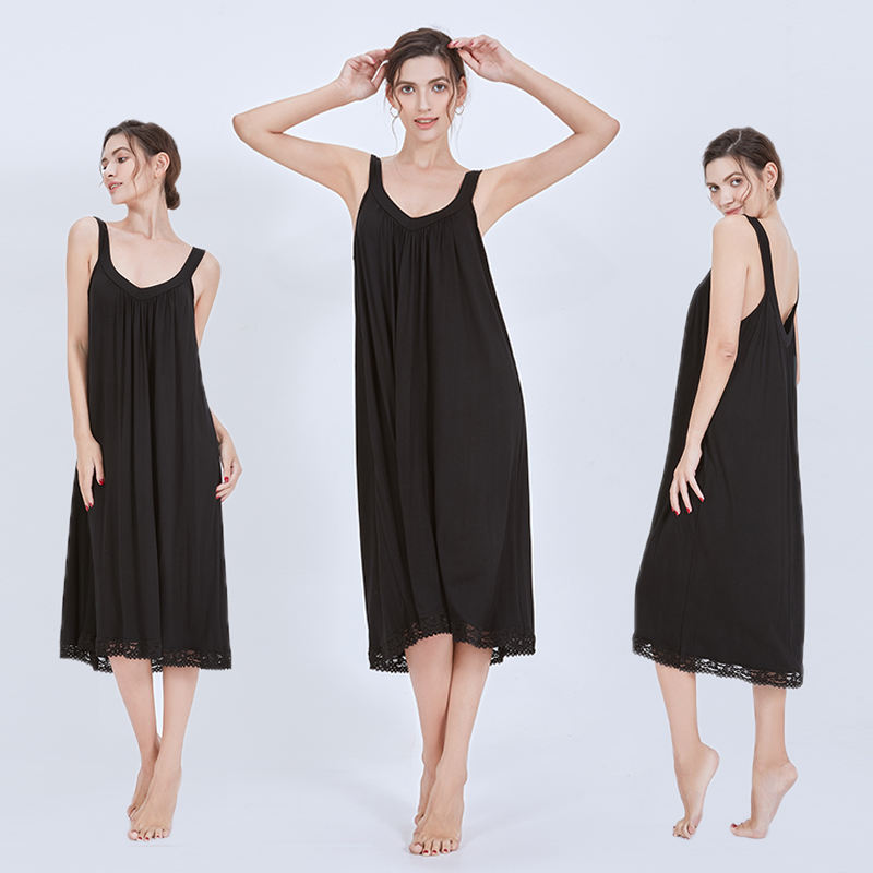 women sexy soft womens loungewear dresses long ladies sleepwear