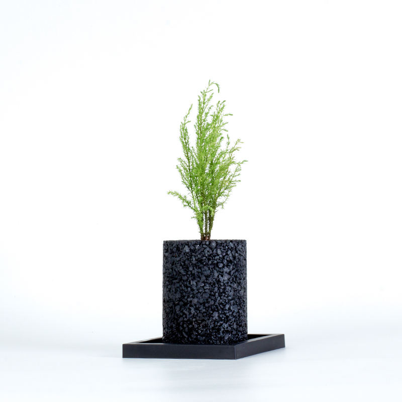 Cylinder bonsai pot indoor deodorizer activated carbon flowerpot
