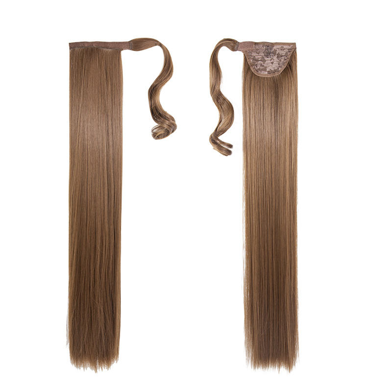 "New Arrival High Quality Gorgeous Straight European Style Synthetic Wrap Around Ponytail 30"" Long"