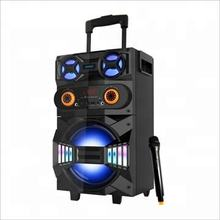 Audmic 8 inch audio Karaoke trolley Bluetooth dj speaker with wireless microphone