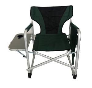 Aluminum frame Portable Director Chair Lightweight Folding Camp sports Chairs with side table