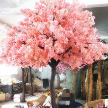New Design 3m pink large outdoor wedding cherry blossom artificial sakura tree