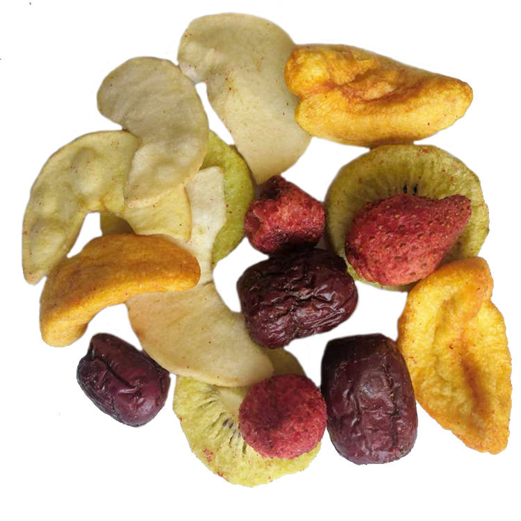 Wholesale various OEM vacuum packaging delicious VF mixed fruits chips in bulk