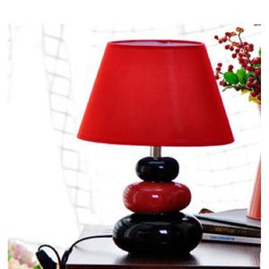 secure flushed Home decor European modern stone bedroom desk lamp promotional gift elegant candy-colored ceramic table lamp