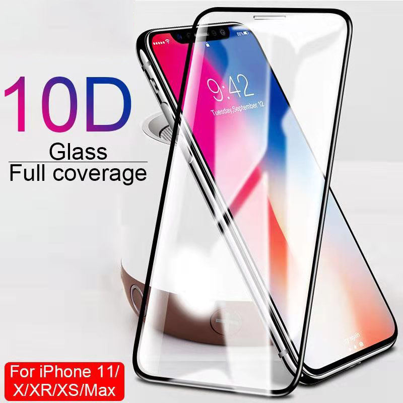 OTAO 9H Curved Full Cover Tempered Screen Protector For iphone 11 Pro Max XS XR X 8 7 6 6s Plus Glass Protector De Pantalla
