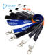Wholesale personalised custom polyester silk screen logo printing design your own lanyard no minimum