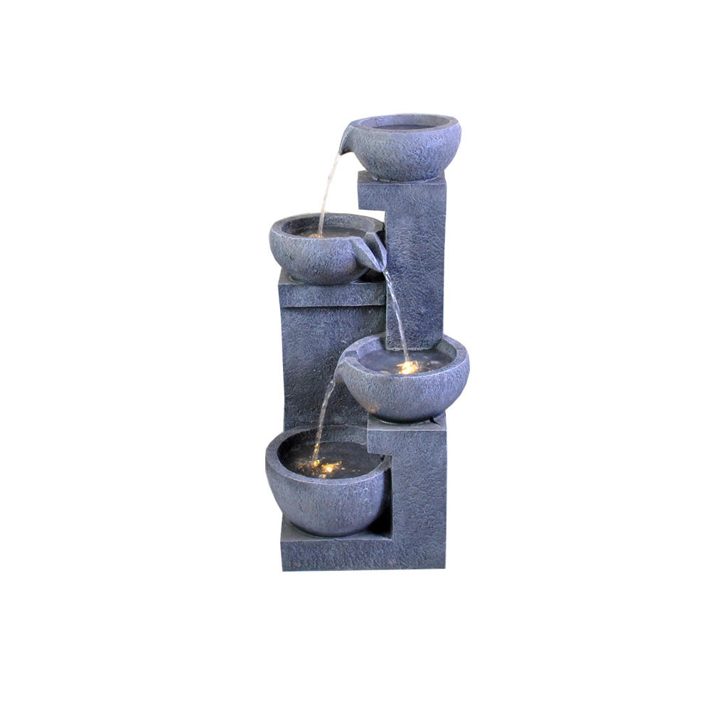 Custom Indoor Outdoor Waterfall Four Tier Water Fall Fountain