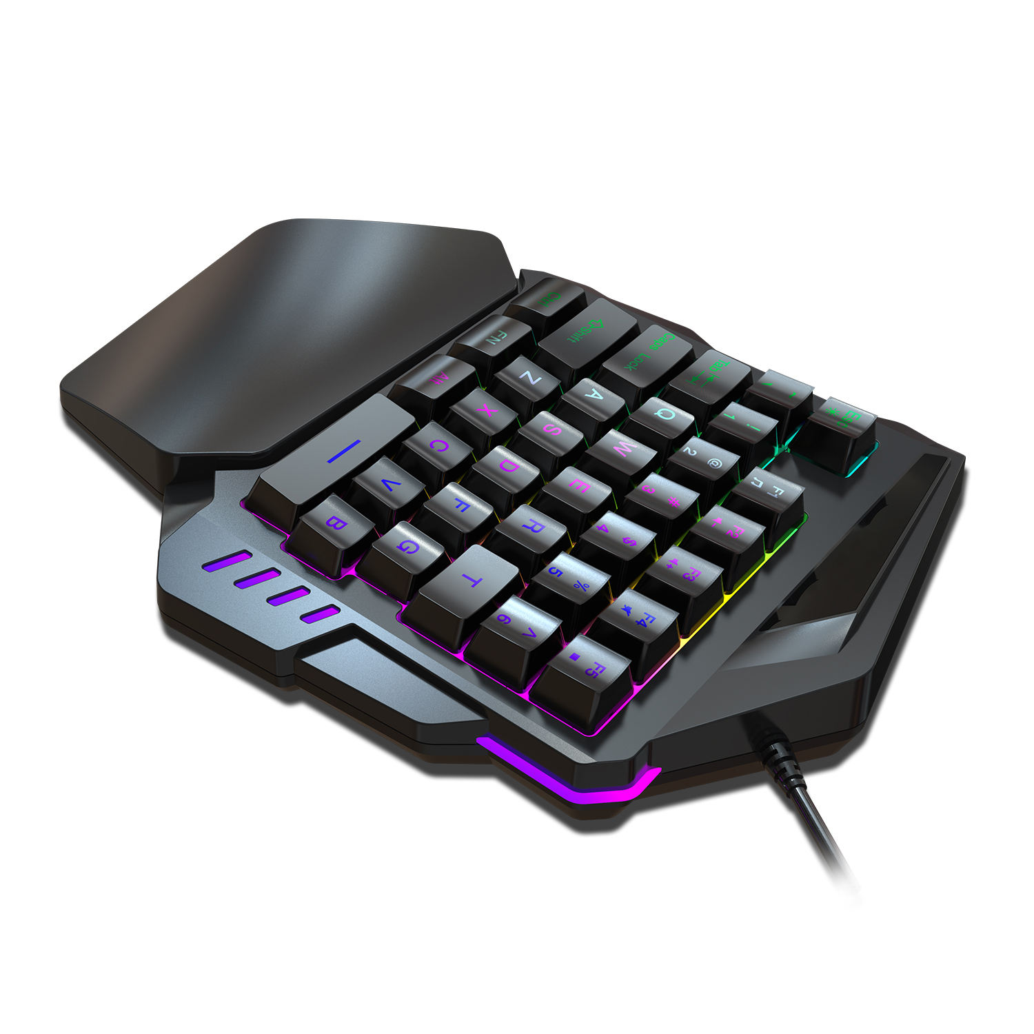 Amazon Hot Selling Single Mini Mechanical Gaming Led Keyboard and Mouse Combo Gamer Kit K99 PU-BG Game Keypad and Mouse