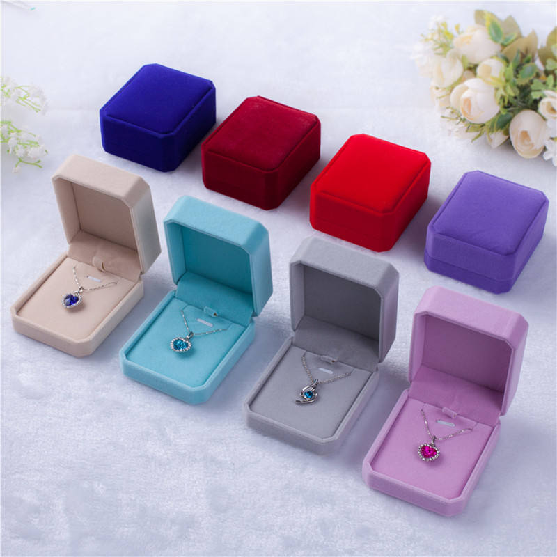 7 * 8* 4cm Square Wedding Velvet Earrings Ring Box Jewelry Display Case Gift boxes Amazing Storage Foldable Case