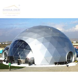 Geodesic Dome Tent for Hotel Exhibition and Wedding Party Usage with Clear White PVC Cover