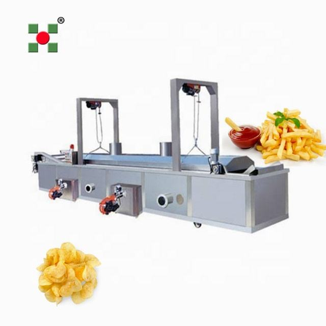 Commercial Potato Processing Line Potato Chips Fryer fry chips machine