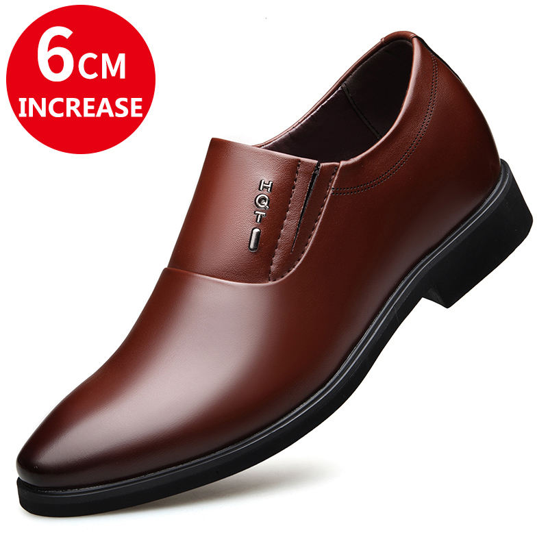 High Quality Business Invisible Height Increase Shoes Men