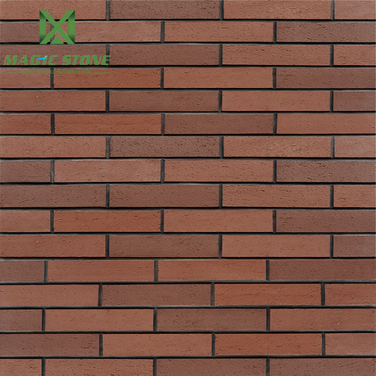 Eco-friendly exterior wall decorative brick cladding tiles flexible red facing brick