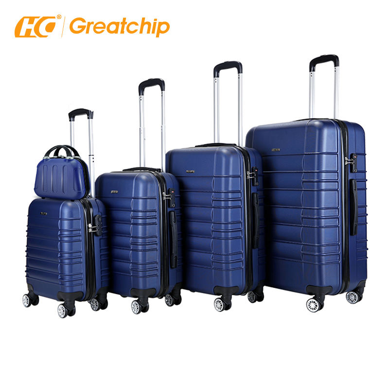 Hot sale simple design travel ABS bayer carry-on trolley carry-on suitcases travelling bags luggage sets