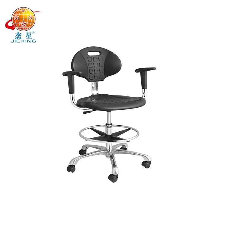 Laboratory Chair Laboratory Chair Industrial Antistatic Factory Chair With Footrest Ring Black PU AntiStatic Chair