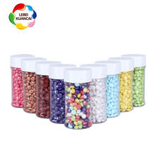 Pressed candy pearlizd shinny colorful diamond edible candy OEM accepted dragee edible cake decorations shaped sprinkles edible