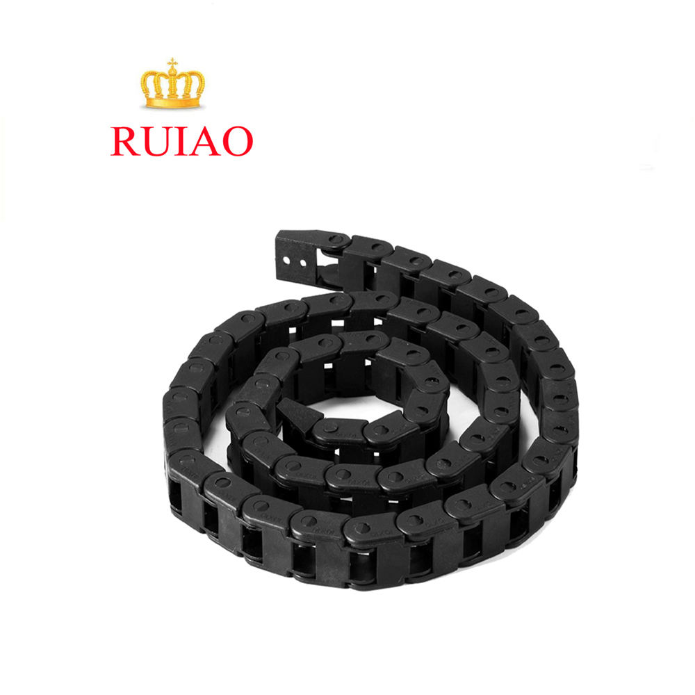 RUIAO Brand TP 7/10/15/18 mm height cable carrier nylon semi flexible cable tray