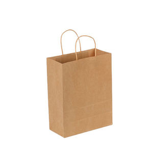 Bulk Kraft Paper Bags Craft Gift Shopping Carry Brown Bag With Handles Au 7 Size