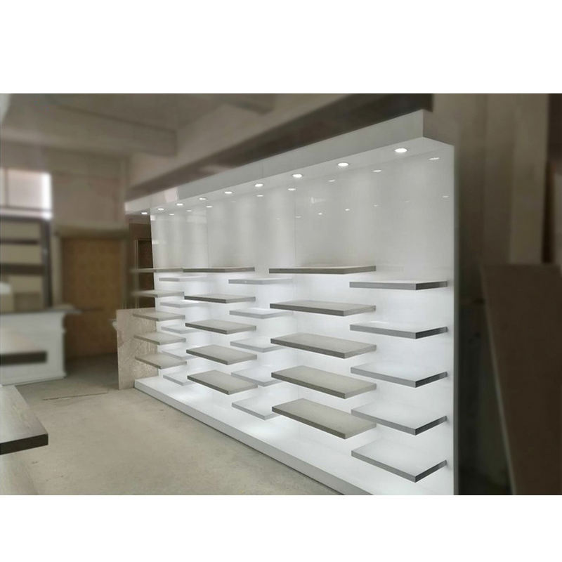Simple Handbag Store Interior Display MDF Laminate Handbag Wall Display Display Stand For Bag Stores
