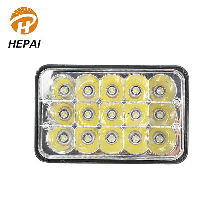 Professional energy saving 12V black auto work light bulbs offroad square 5 inch car led head lamp