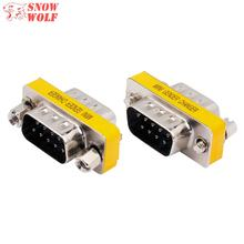 High Quality Mini Gender Changer Male to Male D-sub DB9 Male to DB9 Male Connector Adapter