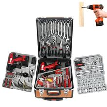 Factory Directly Wholesale  Aluminum case hardware tool  168pcs Drill Electric Screwdriver Tool Kit