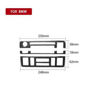 Interior Decoration 3pcs Central Control CD Panel Carbon Fiber Stickers For bmw 3E46