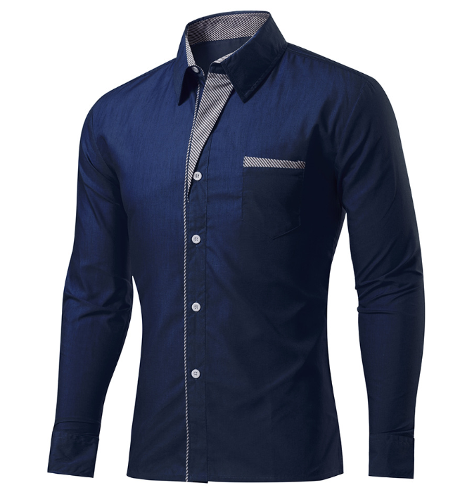 New Fashion Different Colors 100% Cotton Long Sleeves Slim Fit Shirts for Men