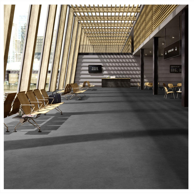 LX0 Modern Grey Interior Room Floor 600X600 Matt Ceramic Porcelain Floor Tiles