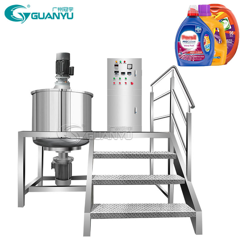300L 1000L Factory Price Detergent Liquid Making Machine Liquid Chemical Stainless Steel Mixing Tank