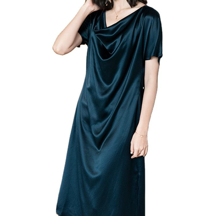 OEM ODM Custom Green And Black Custom Dresses Women Elegant Maxi Acetic Dress