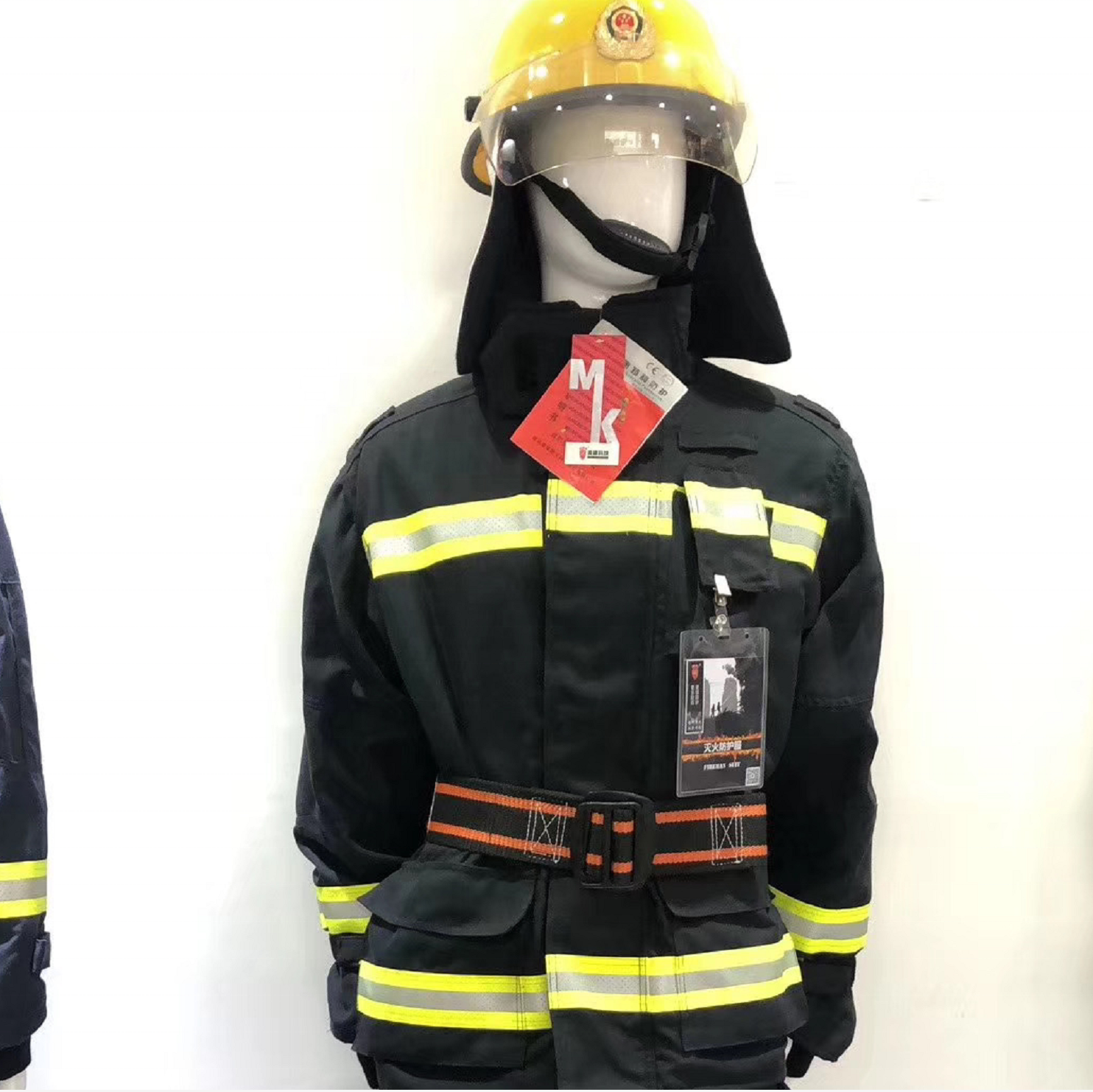 EN469 fireman protection fire fighting suit Jacket and pants