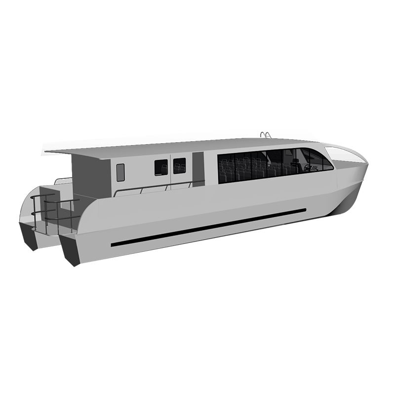15m 50ft 50 seats Aluminum catamaran passenger ferry boat