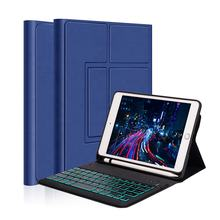Colorful back light wireless keyboard with case for ipad cover