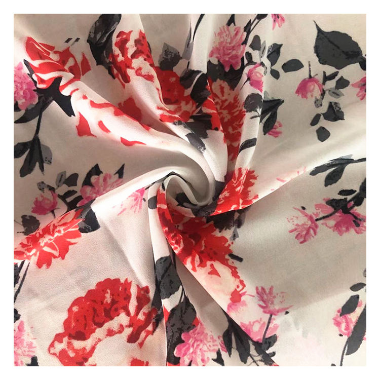 Shaoxing Textile Material Fabric 100% Polyester Wool Dobby Chiffon Fabric For Women Dress