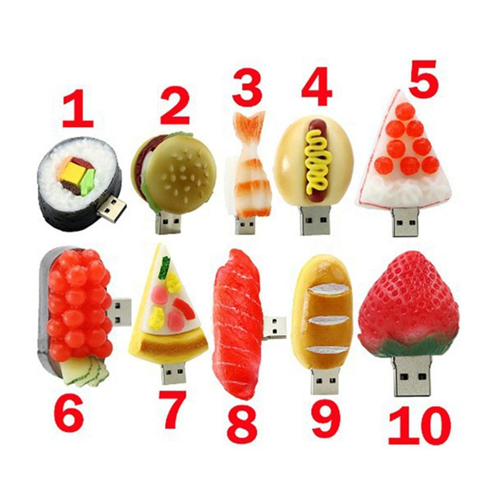 Wholesale PVC 16gb usb stick logo custom 3d banana food fruit flash drive usb