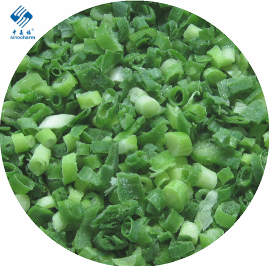 Wholesale good price delicious frozen green spring onions