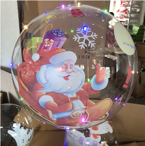 2020 Hot Selling plastic bobo ball inflatable led lights helium balloon for Party Decoration