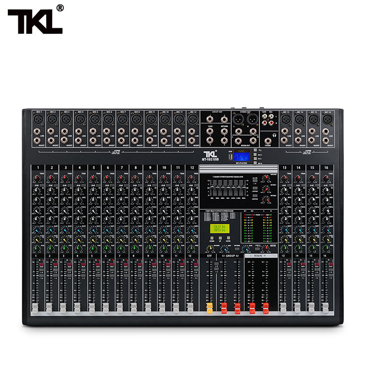 TKL 16-channel professional audio mixer with USB DJ sound mixing console AUX recording stage equipment