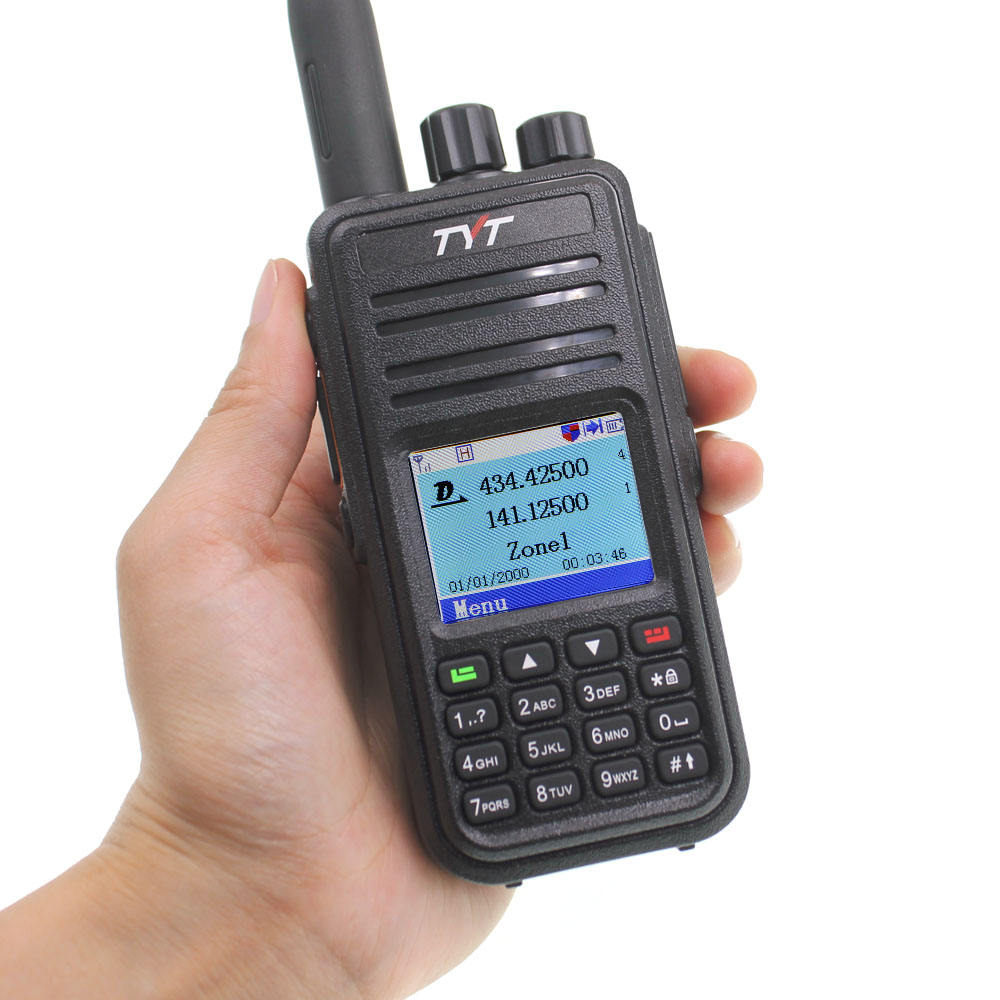 DMR MD-UV380 con il GPS Digitale Mobile Radio UHF VHF TYT TH MDUV380 portatile ham transceiver sostituire MD-380