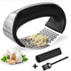3 in 1 set kitchen manual ginger chopper peeler crusher good grip soft plastic handled stainless steel garlic press