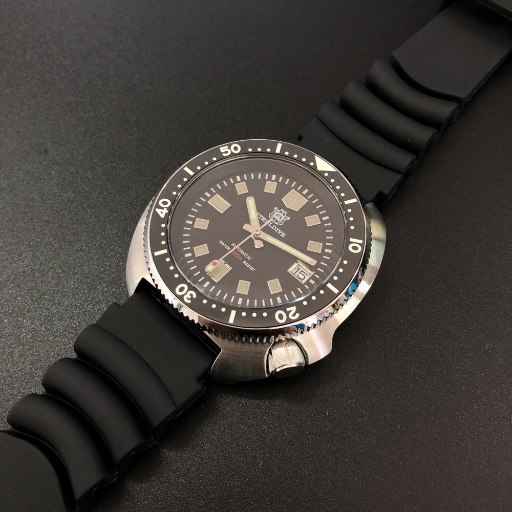 SD1970 Stock Supply Stainless Steel Case Custom OEM 20ATM Automatic Dive Watch with NH35 Movement