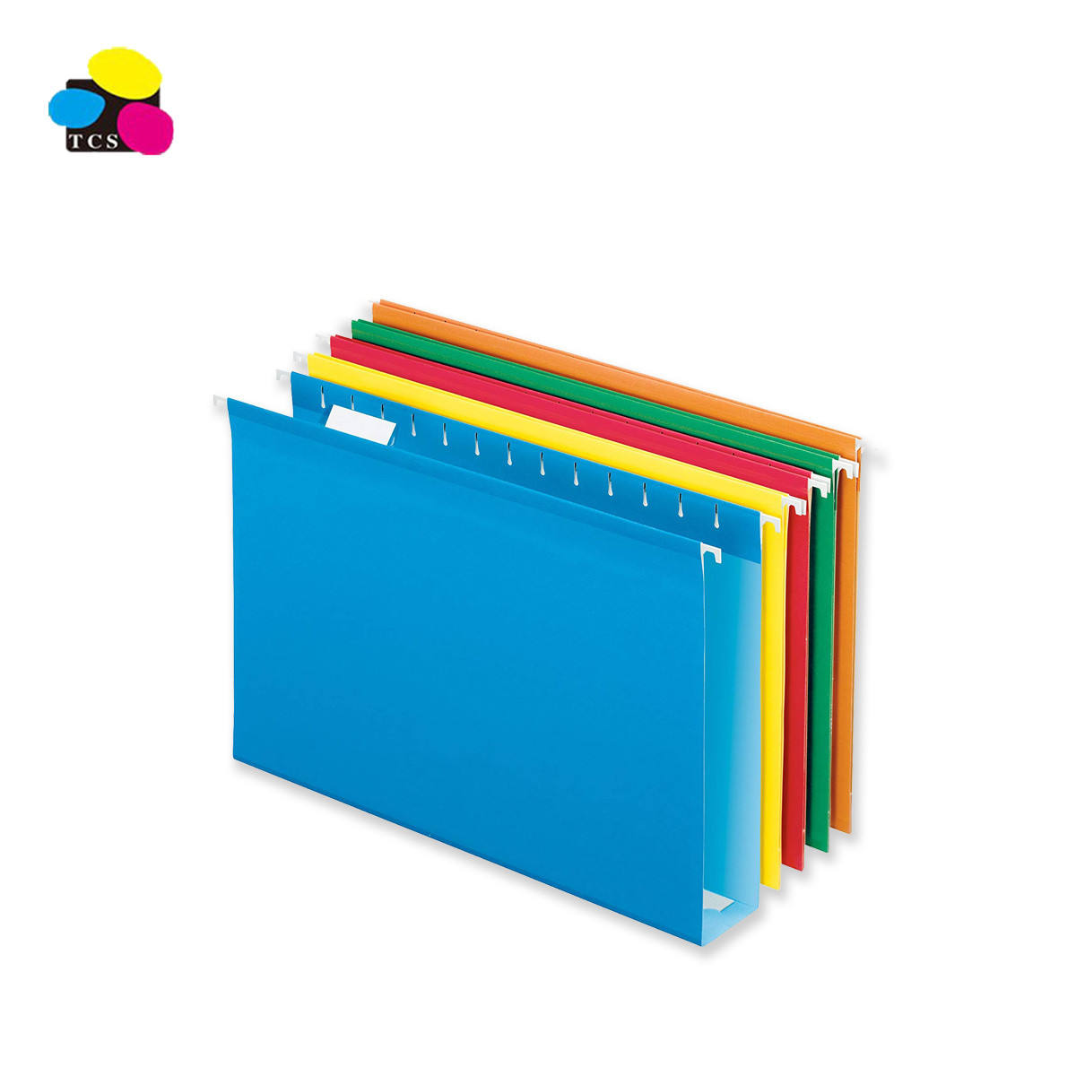 Best Selling Light Blue Pack 25pcs White paper Foolscap Size hanging file folders with 1 tape