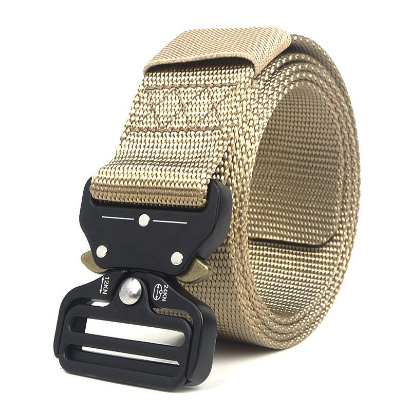 western belt wholesale Hot selling cheap fashion custom man nylon tactical military canvas belt