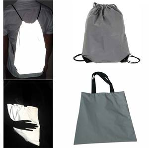 promotion wholesale travel outdoor camping hiking light reflecting backpack reflective shoe storage polyester drawstring bags