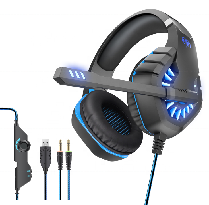 GT81New Wired Gaming Headset Overhead Headphone RGB Gaming Headphone Virtual 7.1 USB Game Headset With Stereo For PC Laptop Game