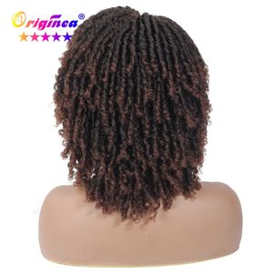 Wholesale short faux locs dreads style african braid synthetic crochet braided hair dread locks wigs for woman