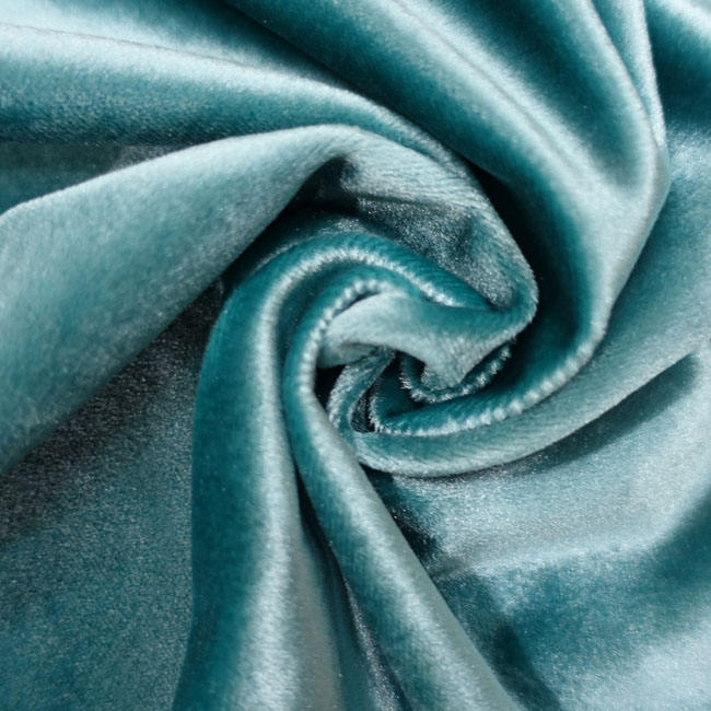 Glossy and silk heavier weight manufacturer satin velvet curtain fabric and curtain